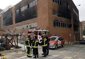 Lugar donde se produjo el incendio. (Foto: EFE)
