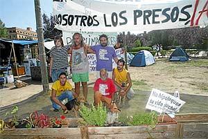 Acampada de protesta en Ciudad Universitaria. (Foto: Julio Palomar)