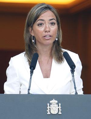 Chacón durante la presentación de las medidas del Plan de Fomento del Alquiler. (Foto: Bernardo Rodríguez)