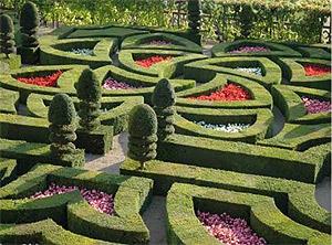 Uno de los jardines del castillo. (Foto: www.chateauvillandry.com)