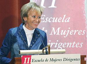 Fernández de la Vega durante un acto en La Coruña. (Foto: EFE)