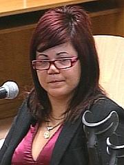 Miriam, durante el juicio. (EFE)