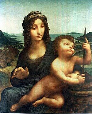 El lienzo de Leonardo Da Vinci, 'La Madonna del huso'. (Foto: EFE/AP)