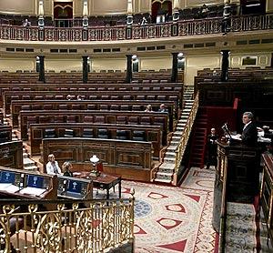 Intervención del ministro de Cultura durante el debate. (Foto: Jaime Villanueva)