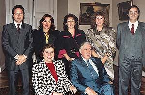 La familia Pinochet al completo. (Foto: AP)