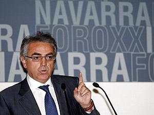 El presidente de Navarra, Miguel Sanz. (Foto: EFE)