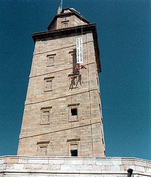 El faro, la Torre de Hércules. (Foto: Carlos Lago)