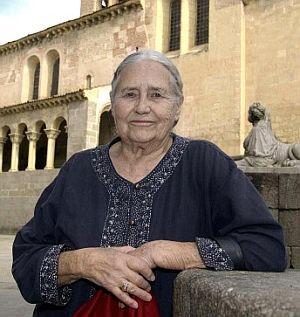 Lessing, en septiembre de 2006 en Segovia durante el festival Hay Festival. (Foto: EFE)