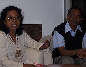 Chistina Samy y L. A. Samy, fundadores de la ONG Areds. (Foto: Yolanda Tellez)