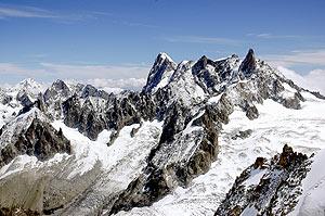 El macizo del Mont Blanc desde Chamonix (Francia). (Foto: Alfredo Merino)