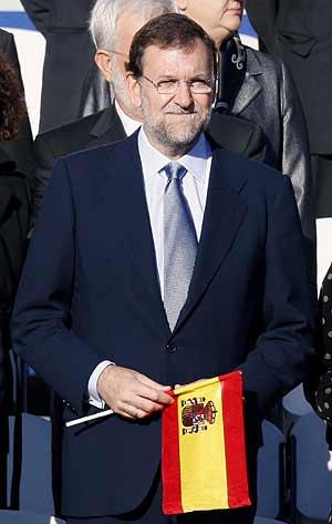 Mariano Rajoy, durante el desfile con motivo de la Fiesta Nacional. (Foto: EFE)