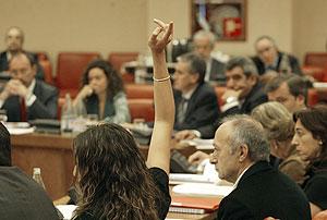 Estudio de enmiendas a la Ley de Memoria Histórica en la Comisión Constitucional. (Foto: Kike Para)