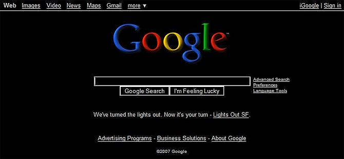 Google, de negro. (Foto: Geeked.info)