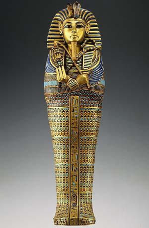 El sarcófago de Tutankamón. (Foto: AP)