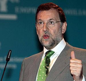 El líder del PP, Mariano Rajoy, este lunes en Palma de Mallorca. (Foto: EFE)