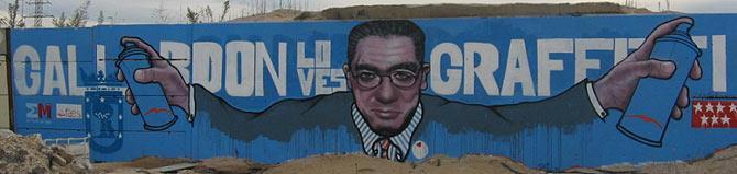 Imagen del grafiti dibujado por la asociación artística 'Desviados' en el distrito de Fuencarral. (Foto: R. Bécares)
