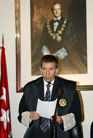 El fiscal jefe de Madrid, Manuel Moix, durante el discurso de apertura del año judicial. (Foto: EFE)