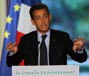 El presidente francés, en rueda de prensa sobre el medio ambiente. (Foto: AFP)