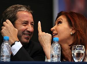 Cristina Kirchner y Julio Cobos. (Foto: EFE)