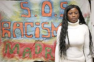 Beauty Solomon, nigeriana agredida por la policía. (Foto: S. González)