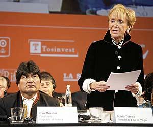 De la Vega y Morales, en un momento del acto de entrega del premio. (Foto: EFE)