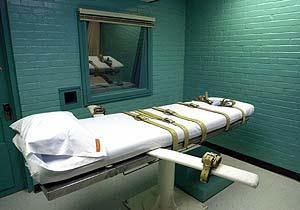 Foto de archivo de 2000 de la camilla de la cámara de la muerte de la prisión de Huntsville, Texas. (Foto: Pat Sullivan / AP)