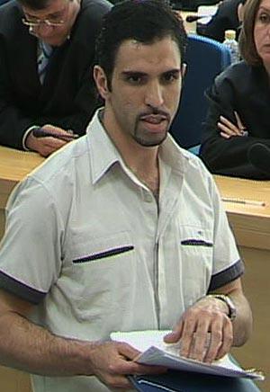 Jamal Zougam, acusado de ser autor material, en su alegato final.