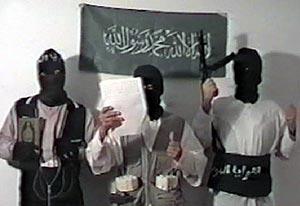 Tres de los suicidas que reivindicaron el atentado. En el centro, Jamal ahmidan 'El Chino'.
