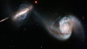 Imagen captada por el 'Hubble' de las galaxias ARP 87. (Foto: NASA)