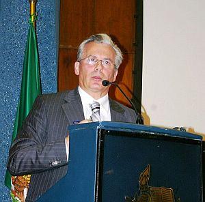 El juez de la Audiencia Nacional Baltasar Garzón, en la ciudad mexicana de Monterrey. (Foto: EFE)