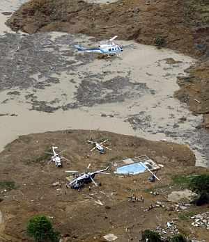 Imagen aérea de la zona afectada. (Foto: AFP)
