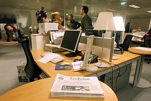 Interior de la redacción de 'Les Echos' en París. (Foto: AFP)