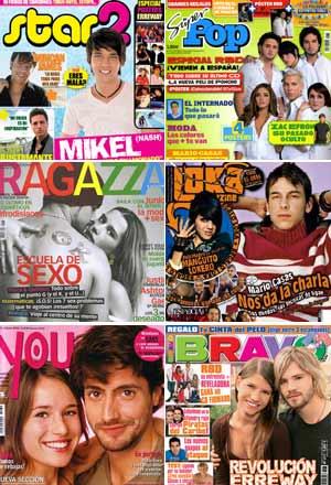 Seis de las revistas analizadas