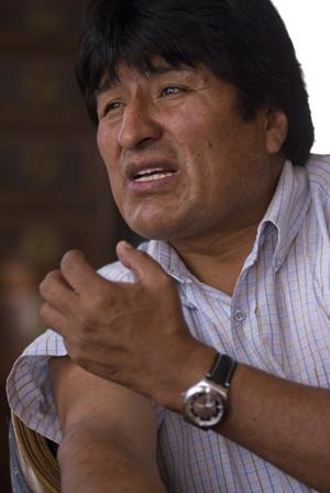 Evo Morales, durante la entrevista, en su residencia de La Paz. (Foto: Christian Lombardi)