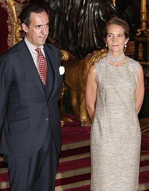 Los Duques de Lugo, en una imagen del pasado octubre. (Foto: EFE)
