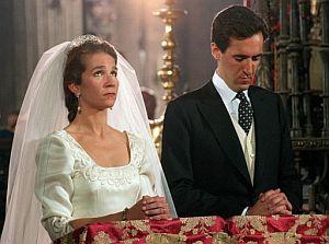 Los Duques de Lugo, durante su boda. (Foto: EFE)