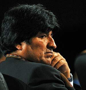 Evo Morales, presidente de Bolivia, durante la Cumbre Iberoamericana. (Foto: AP)