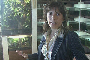 Marta Martínez en el invernadero de la primera planta. (Foto: ELMUNDO.ES)