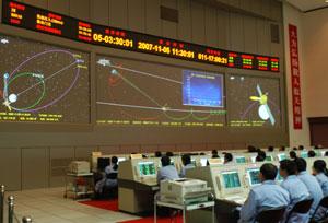Sala de control de la misión 'Chang E 1', en Pekín. (Foto: AP)