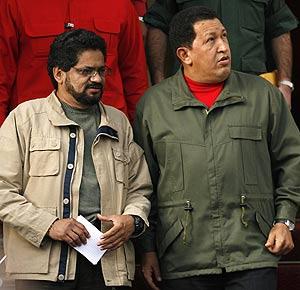 Iván Márquez y Chávez, en su reunión en Caracas. (Foto: REUTERS)