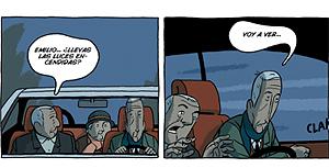 Imagen de algunas viñetas de 'Arrugas'.