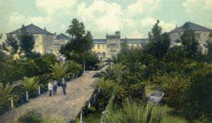 El Hotel Taoro y sus jardines (tarjeta postal de la época).