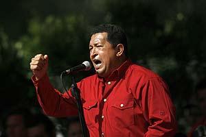 Chávez se dirige a sus seguidores durante un mitin en Caracas. (Foto: REUTERS)