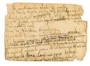 El manuscrito. (Foto: EFE)