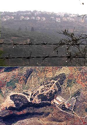 Distintas imágenes de asentamientos israelíes en Cisjordania.