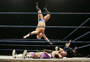 'Pressing Catch', competición de lucha libre en el Palacio de los Deportes (Foto: Carlos Barajas).