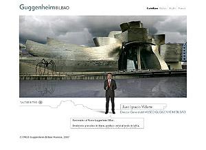 La nueva página web del Gunggenheim incluye una visita virtual a sus intalaciones.