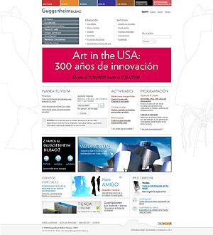 Página principal del site.