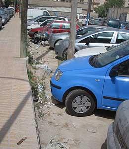 Imagen del aparcamiento de Ses Feixes enviada por el lector Bartolomé Juan Ripoll.