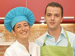 Eva Arguiñano y el concursante rumano, Catalin Clausu (www.hoycocinastu.com).